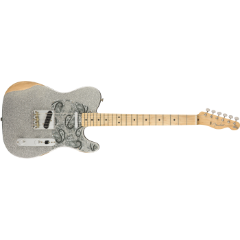 Fender Brad Paisley Road Worn Telecaster Maple Fingerboard Silver Sparkle