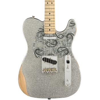 Fender Brad Paisley Road Worn Telecaster Maple Fingerboard Silver Sparkle
