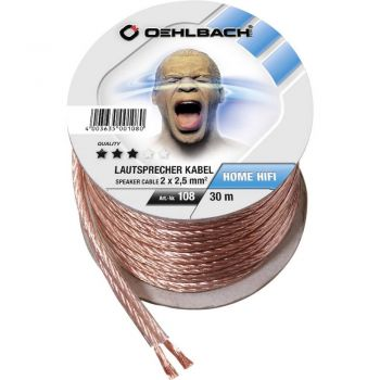 Oehlbach Speaker Cable 2x2,50mm Clear 30 metros Spool