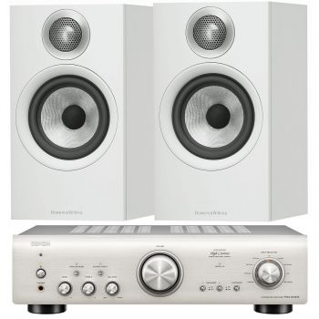 Denon PMA-800AE Silver+BW 607 White Conjunto Audio