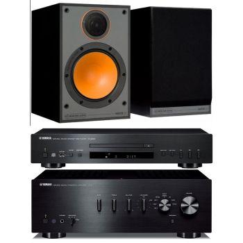 Yamaha AS301 Black+CDS300 Black+Monitor Audio Monitor 100 Black Conjunto Audio