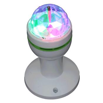 Ibiza Light ASTRO-MICRO-S EFECTO DE ILUMINACION ROTATIVO DE 3 LED RGB + SPORTE E27