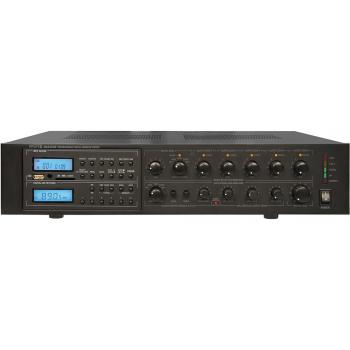 APART MA-247MR. Mezclador-Amplificador de 240W para líneas de 100V con AM/FM y MP3