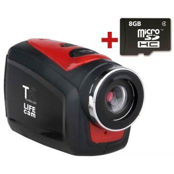 TTK Life Cámara Deportiva + Carcasa Submarina + Accesorios + Micros SD 8GB