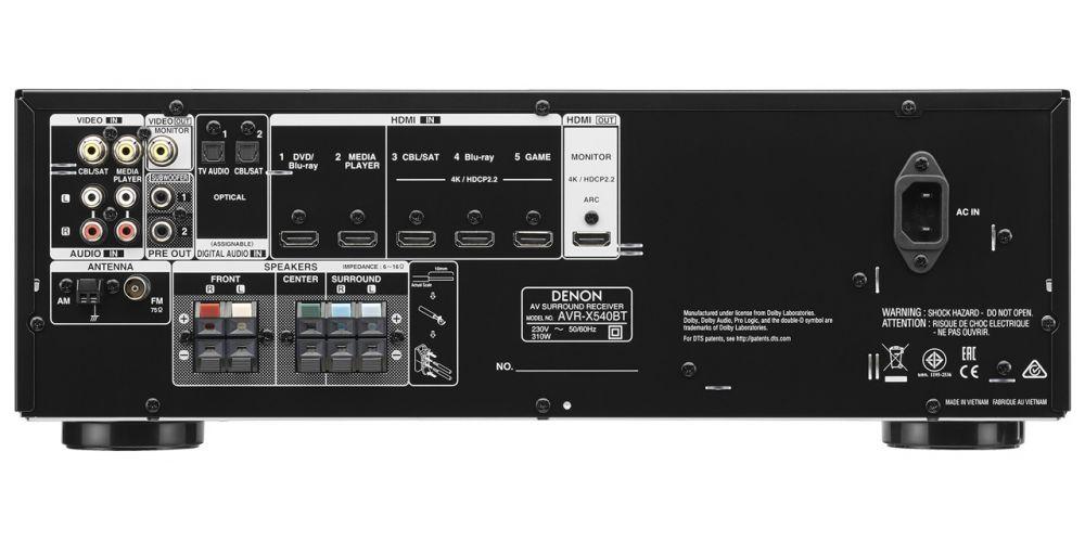 denon AVR 540BT conexiones
