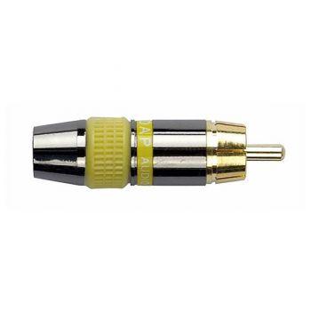 DAP Audio Conector RCA Macho con Capacete Amarillo RF:RMK102Y