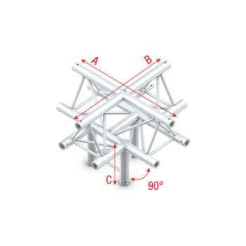 Showtec Cross down 5-way apex up Cruce de Truss Triangular DT22025