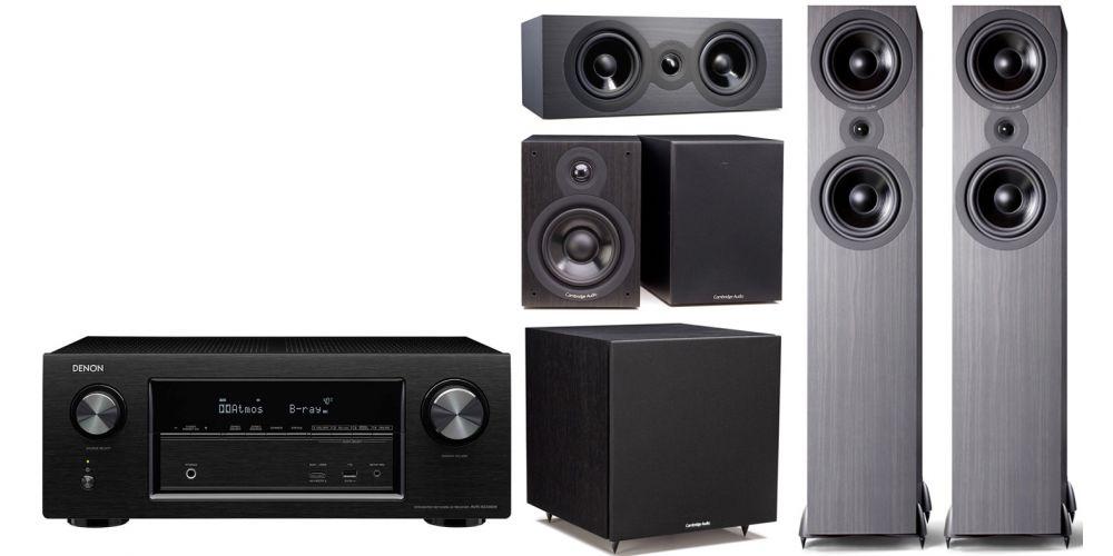 denon avrx 2400 Cambridge Audio SX  80 cinema pack sx120 sx80 sx70 sx50 black conjunto home cinema