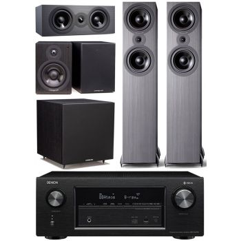 Denon AVRX2400+Cambridge SX80 BK Cinema Pack 5.1