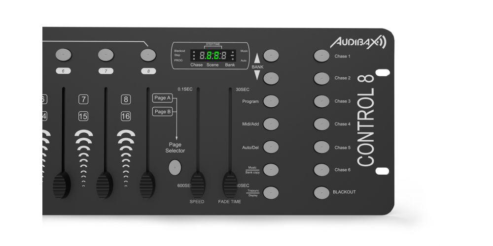 audibax control8 controles