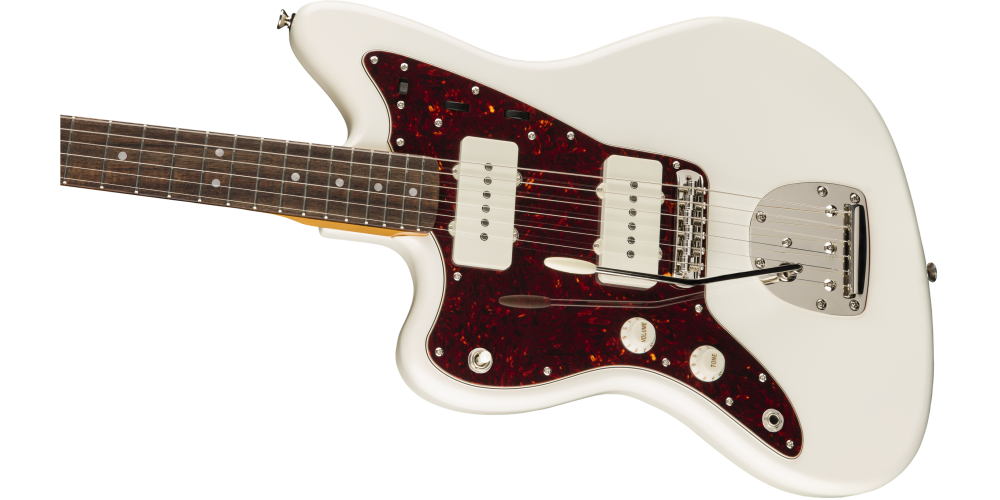 fender classic vibe 60s jazzmaster left handed laurel fingerboard olympic white cuerpo