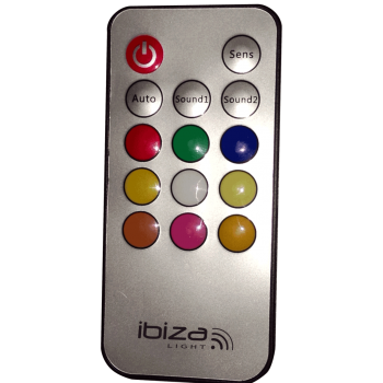 Ibiza Light ASTRO-9C-RC Efecto ASTRO con 9 x LED de Color