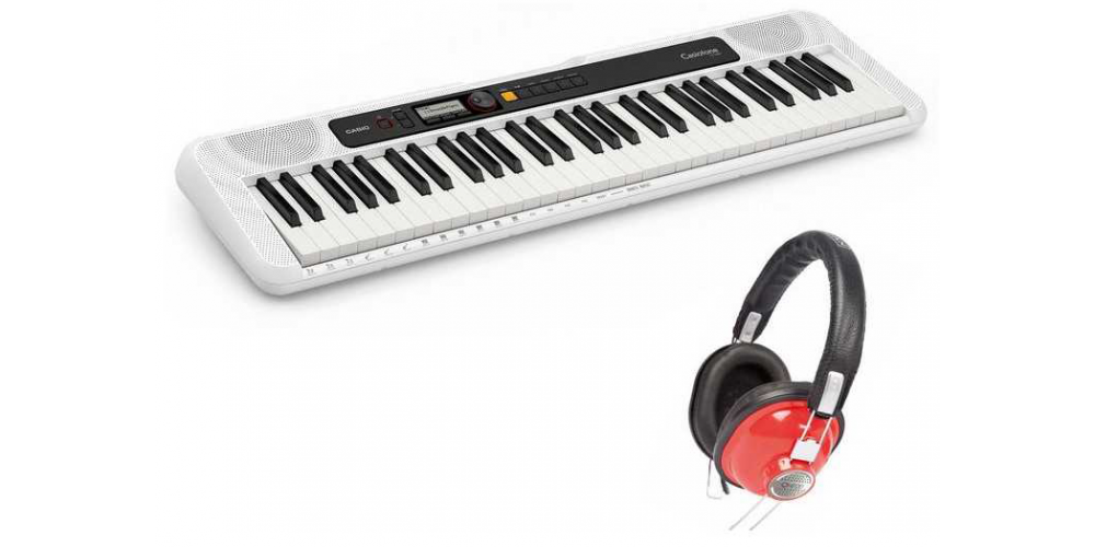 ct s200we casiotone kit teclado auriculares oqan qhp 20rd