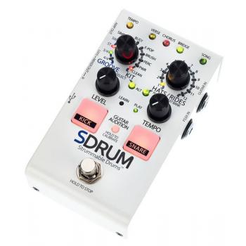 Digitech SDRUM Strummable Drums Caja de ritmos en formato Stompbox