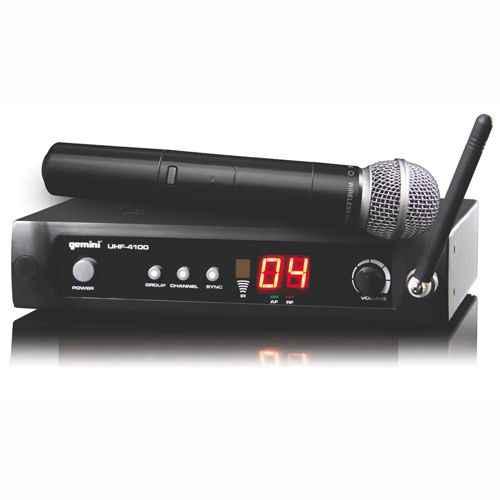 GEMINI UHF-4100M Microfono Inalambrico de Mano UHF