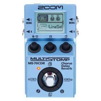 ZOOM MS70CDR Pedal Multiefectos Chorus Delay Reverberation