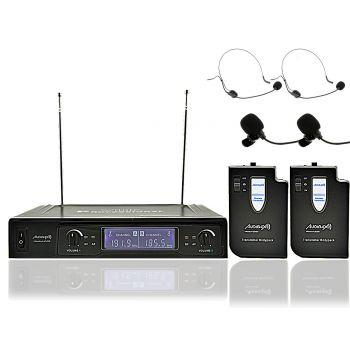 Audibax MISSOURI 2500-1 Microfono inalambrico Doble Lavalier / Madona Frec. B ( REACONDICIONADO )