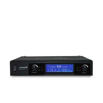 Audibax MISSOURI 2500-1 Microfono inalambrico Profesional Doble Lavalier / Madona Frec. B