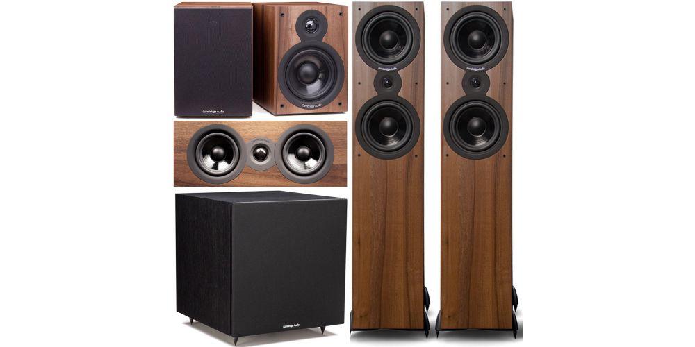 Cambridge Audio SX  80 cinema pack sx120  sx80 sx70 sx50 Columna altavoz acabado walnut