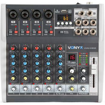VONYX VMM-K602 Mezclador de directo 6 canales con DSP 172587