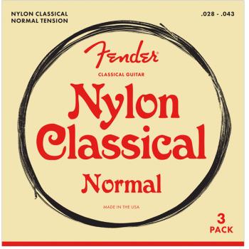 Fender Nylon Acoustic Cuerdas 100 Clear/Silver Calibre 028-.043