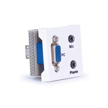 Fonestar WP-52JVJ Panel de conexión VGA, mic y auriculares