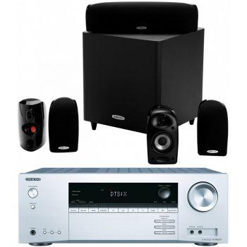 ONKYO TX-NR474 SI+ Polk Audio TL1600 Conjunto Home Cinema