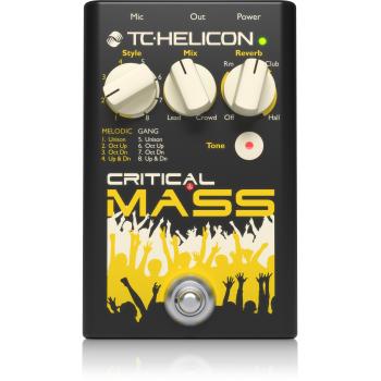 TC helicon Critical Mass Pedal de Efectos para Voz -