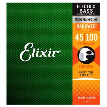 Elixir Nanoweb 14052 Light Bass Guitar 45-100