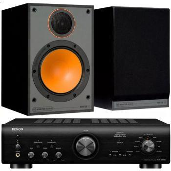 Denon PMA-800AE Black+Monitor Audio Monitor 100 Black conjunto sonido