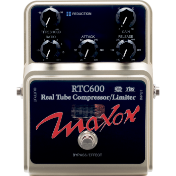 Maxon RTC600 Real Tube Compressor Pedal Efectos Guitarra