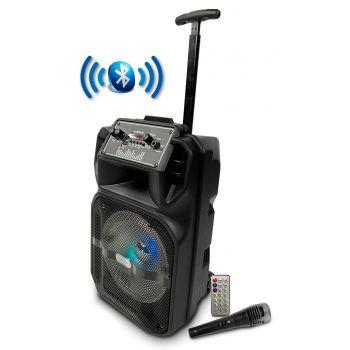 Lige 1709 Altavoz Party 8 LED HiFi Bluetooth Karaoke Trolley 8