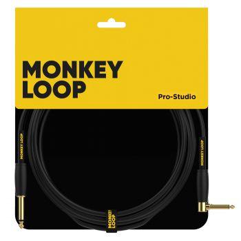 Monkey Loop Pro Studio Silent Cable Jack Mono - Jack Acodado 3 Metros