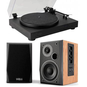 Equipo HiFi Giradiscos Fonestar VINYL 13 + Altavoces Estantería Bluetooth Wiibo Neo 50
