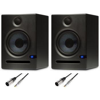 Presonus ERIS E5 2 Monitores Estudio con Cables Premium XLR - Jack Balanceado