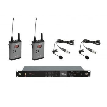 PSSO Set WISE TWO Micrófonos Inalámbricos de Solapa 518-548MHz