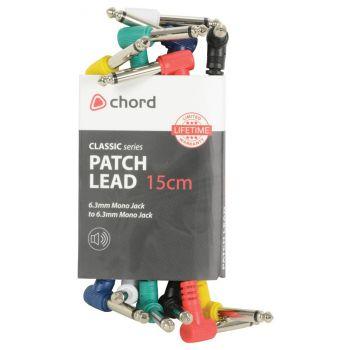 Chord Pack 6 Cables Patch de Colores Jack 1 Metro 190.225