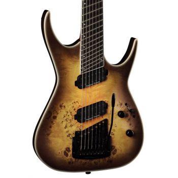 Dean Guitars Exile Select 7 Multiescala Kahler Satin Natural Black Burst. Guitarra Eléctrica