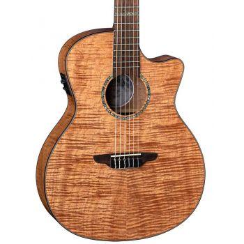 Luna Guitars High Tide Exotic Mahogany Nylon. Guitarra Electroacústica