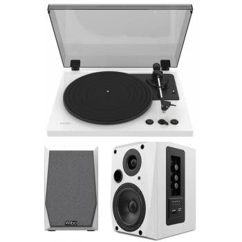 Equipo HiFi TEAC TN-175 White Giradiscos Con Previo Phono + Wiibo Neo 50 White Altavoces