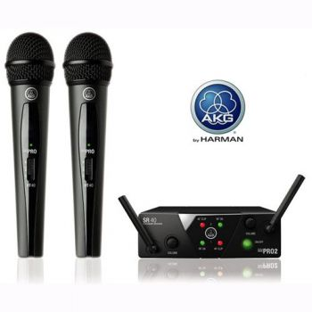 AKG WMS-40 MINI DUAL VOCAL SET Micrófono Inalambrico Mano