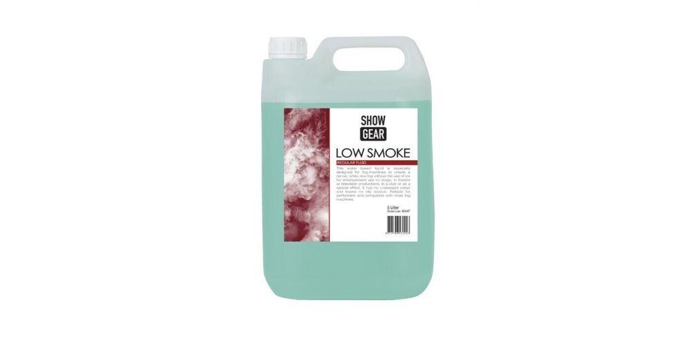 showtec low smoke fluid 5 litros 60647 comprar