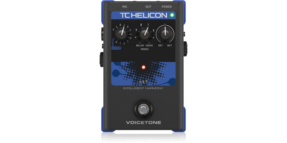 tc helicon voicetone h1 pedal efectos guittara voz
