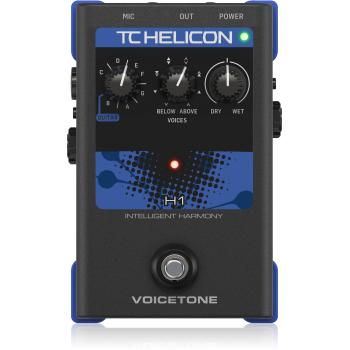 TC Helicon VoiceTone H1 Pedal de Efectos para Voz y Guitarra