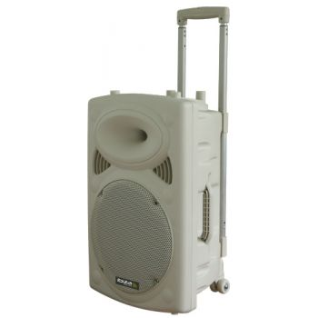 "IBIZA SOUND PORT15UHF-BTW Altavoz 15""  Blanco Bluetooth con batería.-"