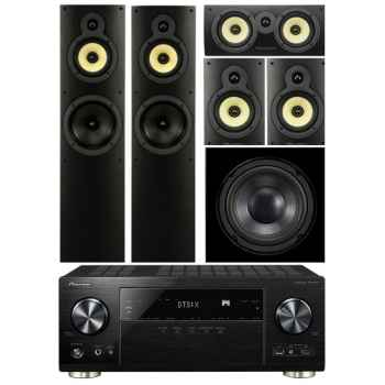 Pioneer VSX-1131-BK+Wharfedale Crystal 4 Systems+WHD8