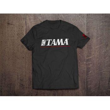 Tama T-Shirt Logo Negra-Roja Talla S