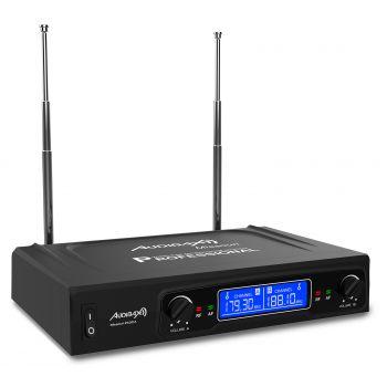 Audibax MISSOURI 2500 Microfono inalambrico Profesional Doble Lavalier / Madona Frec. A ( REACONDICIONADO )