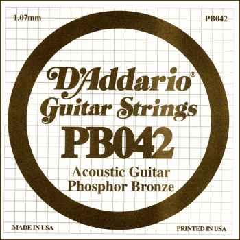 D´addario PB042 Cuerda Suelta para Guitarra Acústica