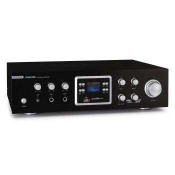 Fonestar AS-123RUB Amplificador Karaoke Bluetooth 60W + 60W RMS. Entrada 2 Micrófonos con Mezcla y Echo. Radio FM .Entradas SD / USB . Mando a distancia